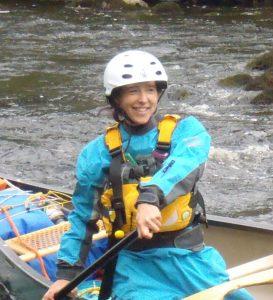Liz Barlow canoeing