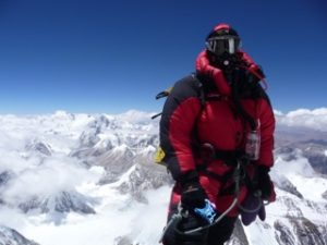 Paul J at the summit of Everest