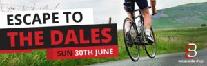 Escape to the Dales Sunday 30th June Cycling logo