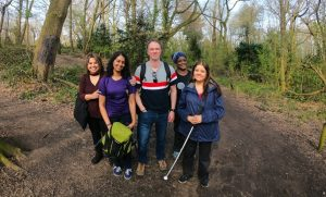 picture of the Course sponsors: The Look Who's Walking Team, comprising Masuma Ali, Bhavini Makwana, Ian Francis and Saul Wynne with support from Kam and Dee