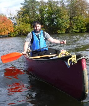 Mark Canoeing solo on Windermere